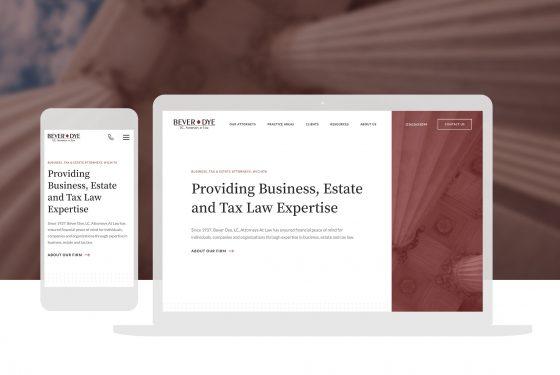 Bever Dye Attorneys Law Cassandra Bryan Design Wichita Ks Website Design