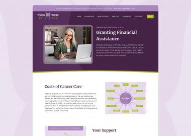 Non Profit Cancer Care Assistance Website 1