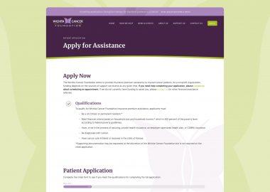 Non Profit Cancer Care Assistance Website 2