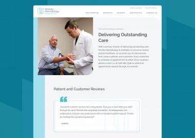 Dermatology Clinic Custom Website Cassandra Bryan Design 4