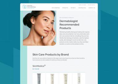 Dermatology Clinic Custom Website Cassandra Bryan Design 5