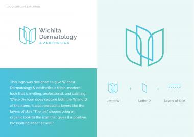 Wichita Dermatology Aesthetics Logo Branding Cassandra Bryan Design 2