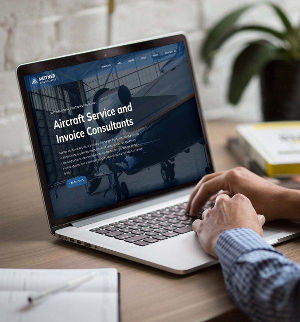 Meitner Associates Aircraft Services Website Design Wichita Cassandra Bryan